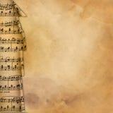 Vieux fond avec le cadre musical pour la conception illustration stock