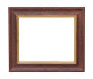 Vieux fond blanc d'isolement de plat par cadre en bois image libre de droits