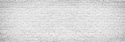 Vieux fond blanc de mur de briques, texture de vintage de brickw léger images libres de droits