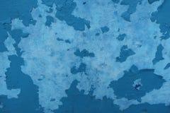 Vieux fond bleu et gris endommagé de mur Images stock
