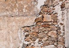 Vieux fond criqué de mur Photo stock