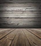 Vieux fond d'étape en bois Images libres de droits