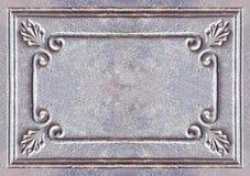 Vieux fond de cadre en métal de vintage Photographie stock