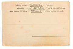Vieux fond de carte postale Image libre de droits