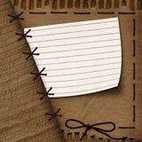 Vieux fond de carton pour la conception avec la corde illustration stock
