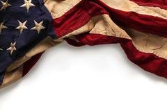 Vieux fond de drapeau américain Photo stock