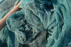 Vieux fond de filets de pêche Images stock