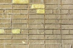 Vieux fond de Grey Yellow Brick Wall Texture image libre de droits