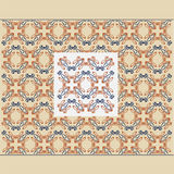 Vieux fond de luxe royal sans couture croisé de texture Image libre de droits
