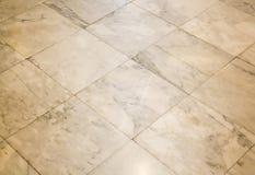 Vieux fond de marbre carrelé de plancher images stock