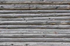 Vieux fond de mur de rondin Image libre de droits