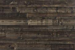 Vieux fond de panneaux de texture en bois foncée Images libres de droits