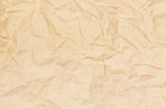 Vieux fond de papier écrasé Photos libres de droits