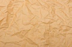 Vieux fond de papier écrasé Image stock