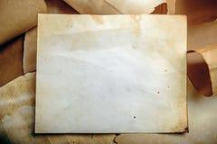 Vieux fond de papier Images libres de droits