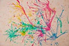 Vieux fond de papier avec multicolore illustration stock