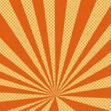Vieux fond de papier d'orange de bande dessinée Photo stock