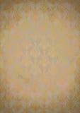 Vieux fond de papier de cru avec la configuration d'or Images stock