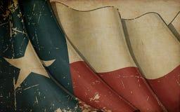 Vieux fond de papier de drapeau texan Photographie stock