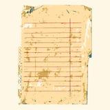 Vieux fond de papier de note Photos stock