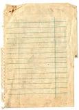 Vieux fond de papier de note Images libres de droits