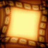 Vieux fond de pellicules cinématographiques Photo stock