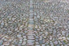 Vieux fond de pierre de pavé Image libre de droits