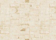 Vieux fond de texture de journal Photographie stock