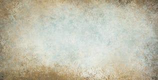 Vieux fond de vintage avec la texture grunge de frontière et les couleurs bleues et blanches brunes Image libre de droits