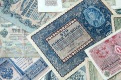 Vieux fond de vintage de billets de banque Photographie stock