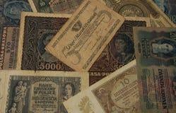 Vieux fond de vintage de billets de banque Image libre de droits
