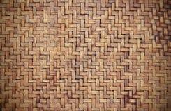 Vieux fond en bambou grunge de texture Image libre de droits