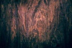 Vieux fond en bois affligé de grunge de planche de conseil Photos libres de droits