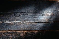 Vieux fond en bois affligé de grunge de planche de panneau Photo libre de droits