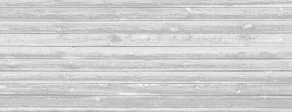 Vieux fond en bois blanchi de planches Images libres de droits