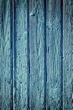 Vieux fond en bois bleu avec la vignette Photo libre de droits
