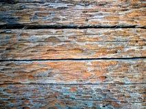 Vieux fond en bois brut superficiel par les agents de texture images stock