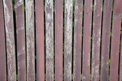 Vieux fond en bois de barrière Images libres de droits