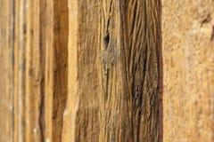 Vieux fond en bois de bois de construction Images stock