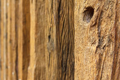 Vieux fond en bois de bois de construction Images libres de droits