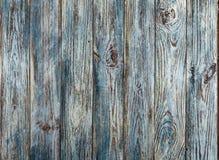 Vieux fond en bois grunge peint gris-bleu de planches Images stock