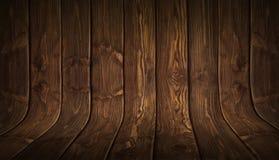 Vieux fond en bois incurvé sale Photos stock