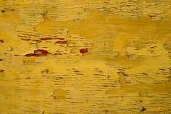 Vieux fond en bois jaune grunge de texture de mur Photographie stock libre de droits