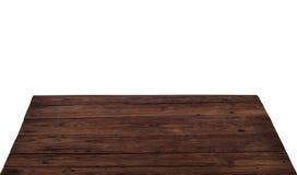 Vieux fond en bois superficiel par les agents de texture, surface en bois de table photographie stock libre de droits