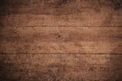 Vieux fond en bois texturisé foncé grunge, la surface de la vieille texture en bois brune, panneautage en bois de brun de vue sup photos libres de droits