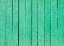 Vieux fond en bois vert de planche Photos libres de droits