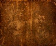 Vieux fond en cuir antique foncé Images stock