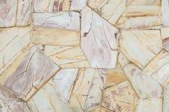 Vieux fond en pierre brun de texture de mur de briques de plan rapproché Photos stock