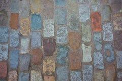 Vieux fond en pierre de texture de route de tuile photographie stock