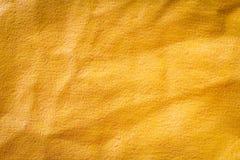 Vieux fond en plastique jaune sale de store avec la poussière Photos libres de droits
